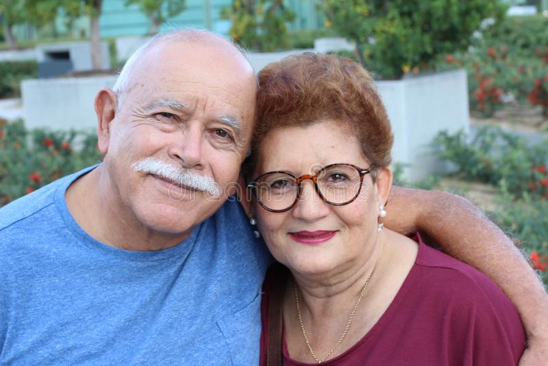 Hispanic Senior Paar nah lizenzfreies stockfoto