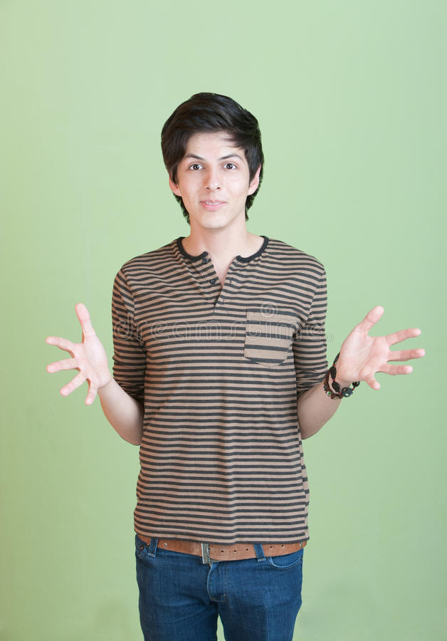 Download Hispanic Teen With Open Arms Royalty Free Stock Photos - Image: 22022248