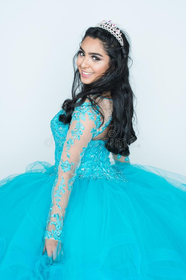 Teen In Prom Dress stock image. Image of quinceanera - 105186841