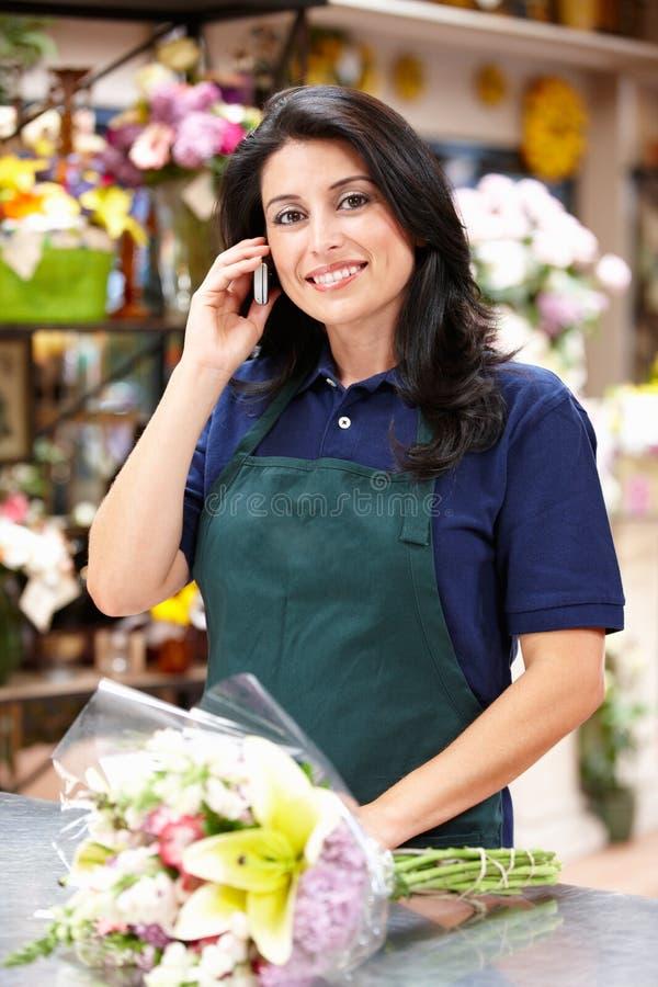 Download Hispanic Woman Working In Florist Stock Image - Image: 20888081