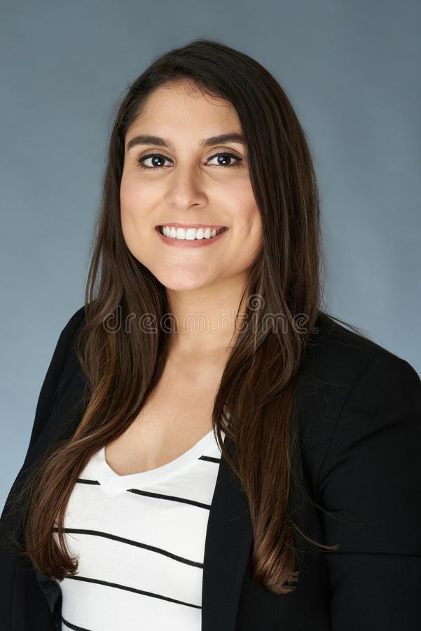 Hispanic young woman portrait royalty free stock photos