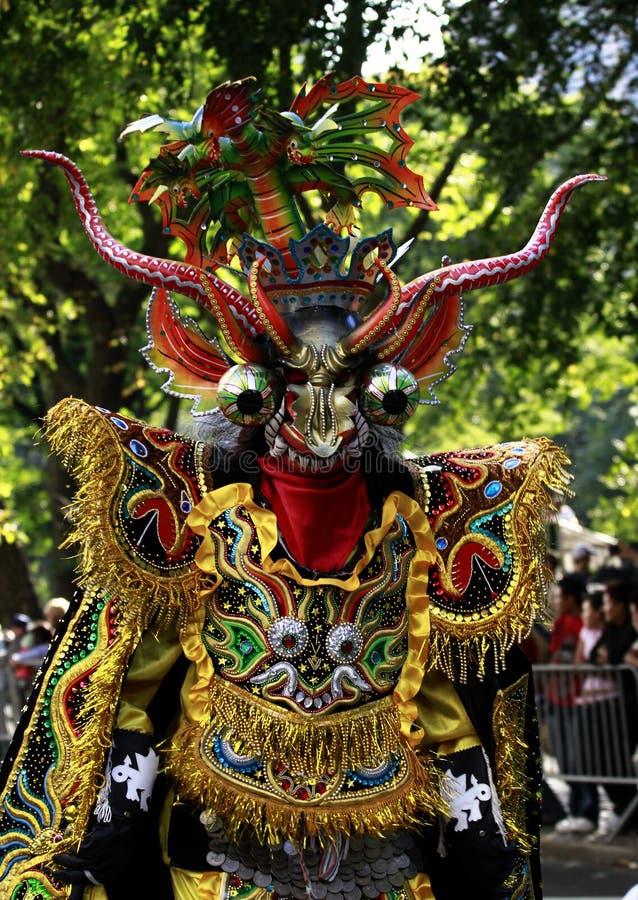 Hispanische Tagesparade in New York lizenzfreie stockbilder