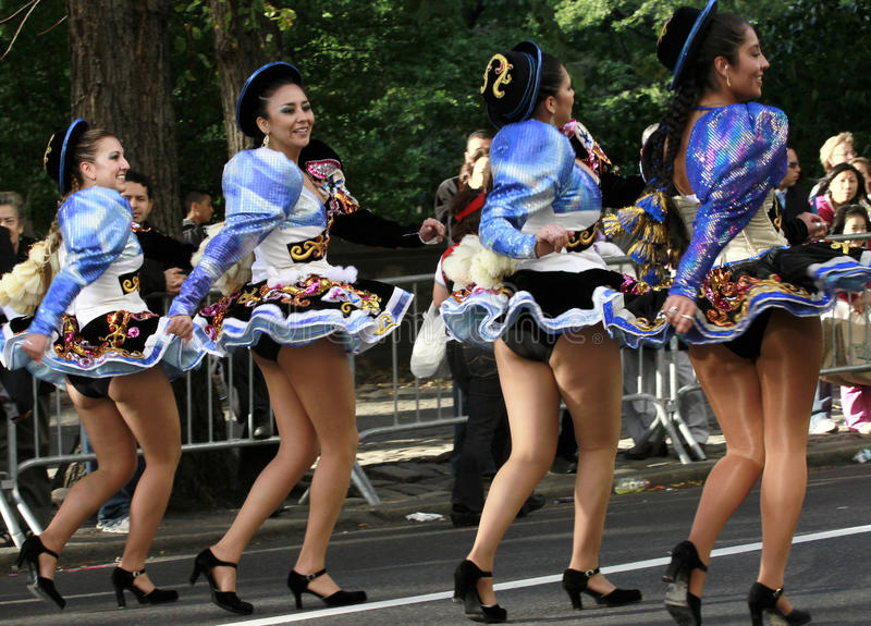 Hispanische Tagesparade in New York stockfotos