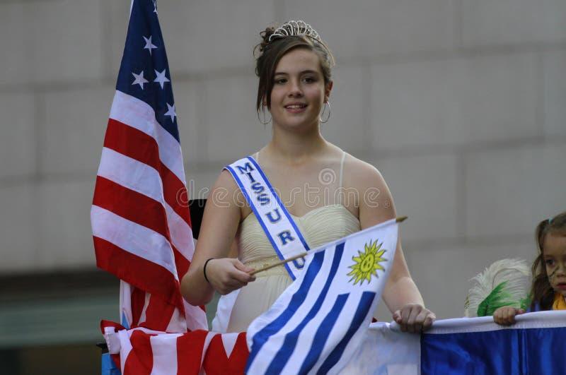 Hispanische Tagesparade in New York stockfotografie