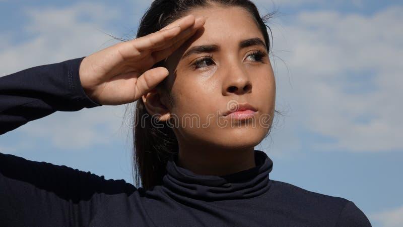 Hispanische weibliche Knaben-Begrüßung stockfotografie