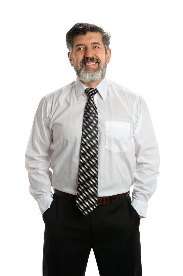 Hispanischer älterer Geschäftsmann lizenzfreies stockfoto