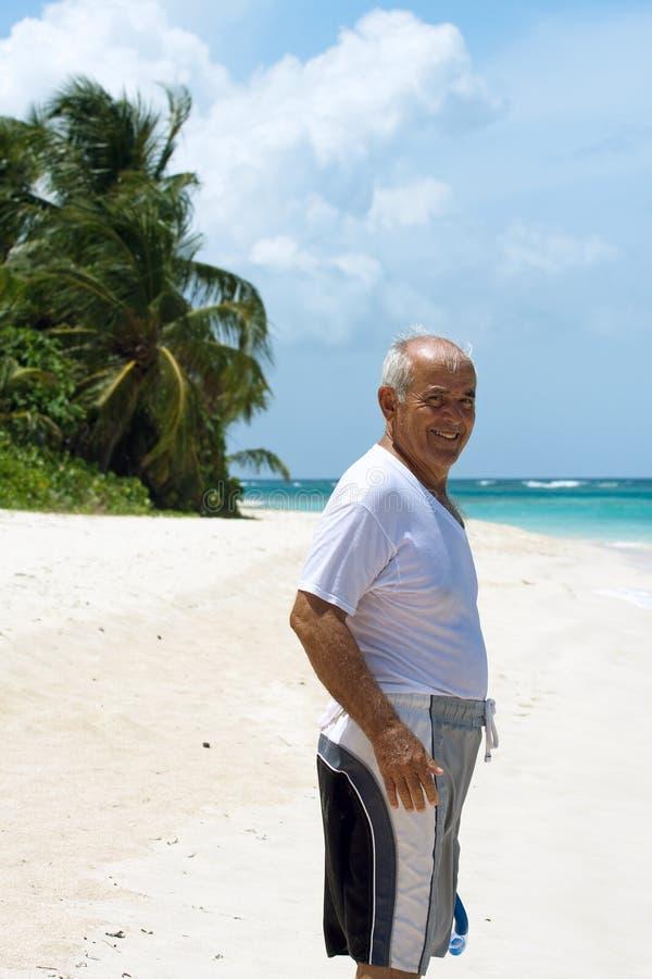 Hispanischer älterer Mann stockbild