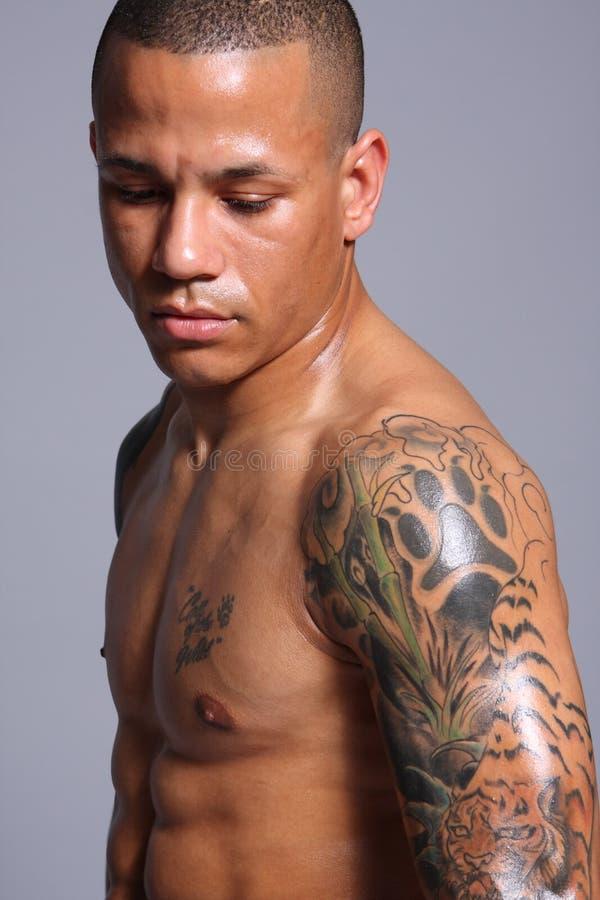 Hispanischer Athlet stockfotografie