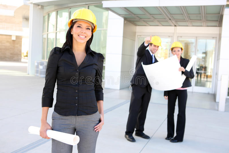 Hispanischer Frauen-Architekt lizenzfreie stockbilder