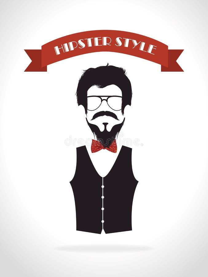 Hispter moda i styl życia royalty ilustracja