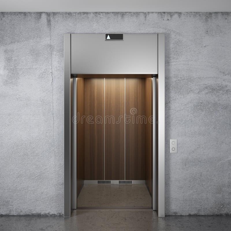 Hiss med öppnade dörrar stock illustrationer