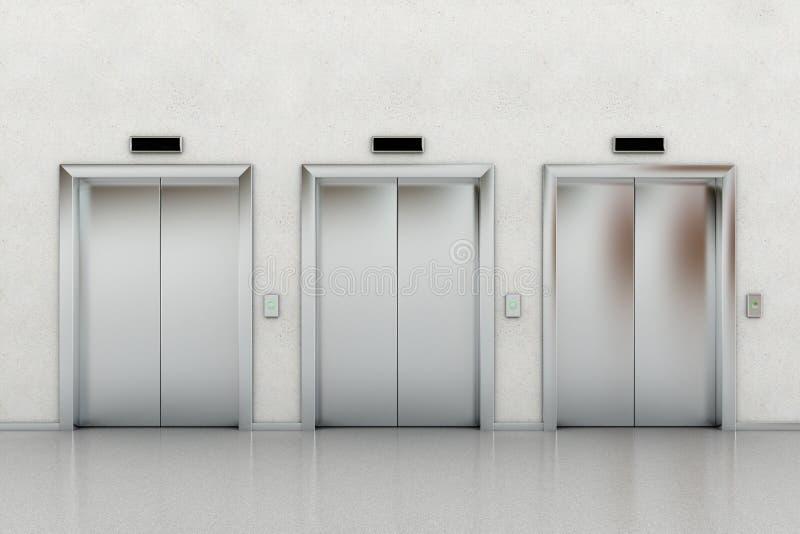 hissar tre vektor illustrationer
