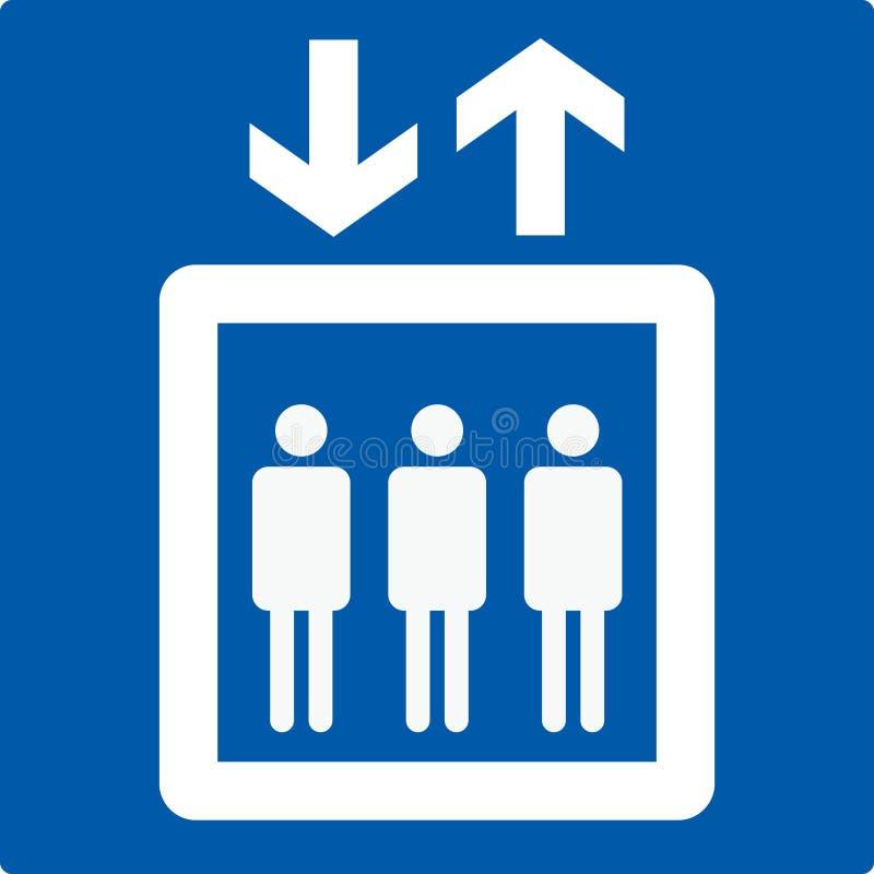 hisselevatortecken stock illustrationer