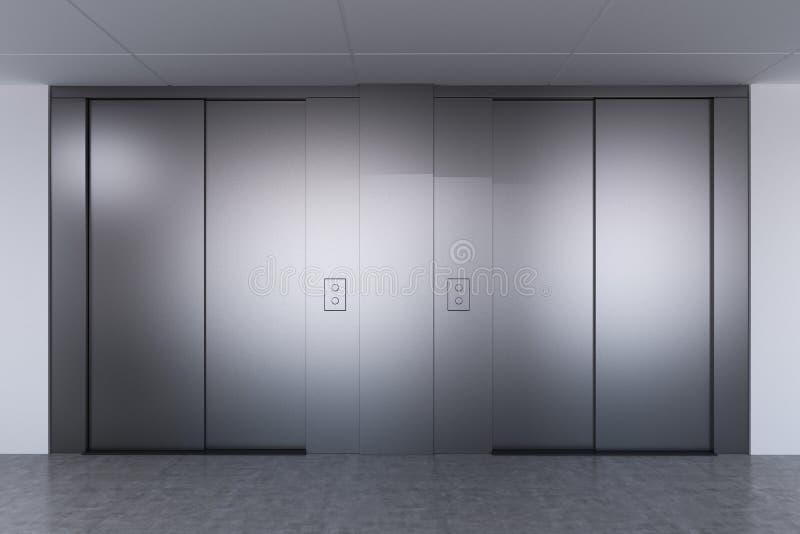 Hisskorridor i ett modernt kontor stock illustrationer