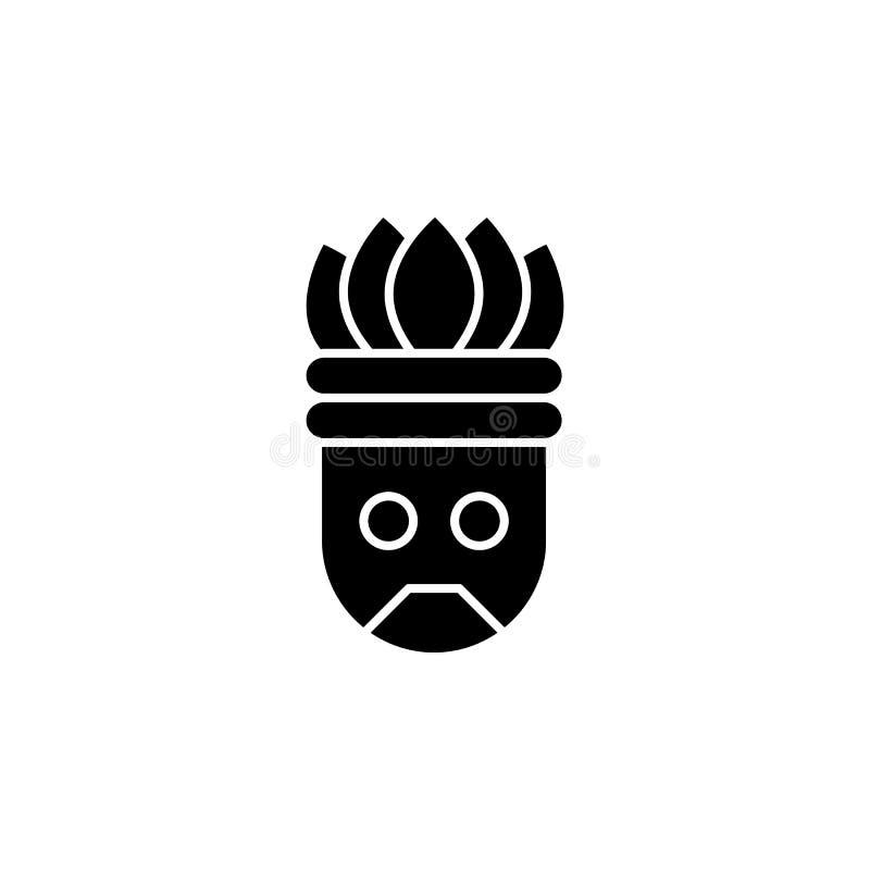 História, ícone aztec Glifo simples, vetor plano de ícones de histórico para ui e ux, site ou aplicativo móvel ilustração do vetor