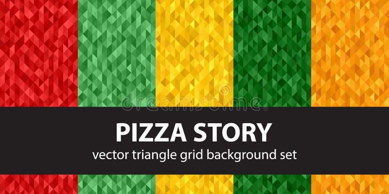 História ajustada da pizza do teste padrão do triângulo ilustração do vetor