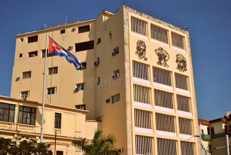História cubana em uma construção fotografia de stock royalty free