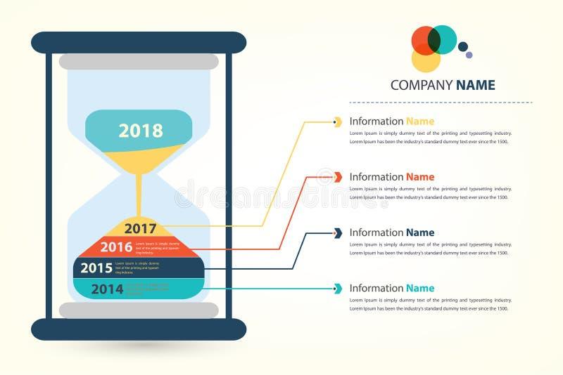 História da empresa do espaço temporal & do marco miliário infographic ilustração do vetor