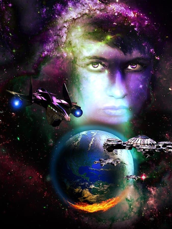 História da ficção científica ilustração royalty free