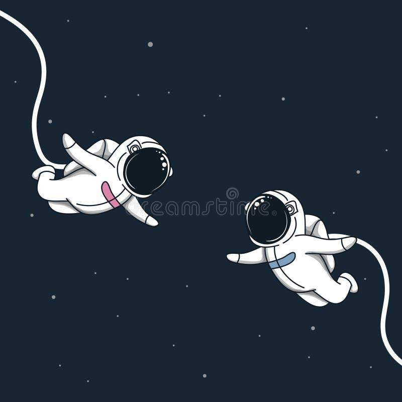 História de amor do espaço ilustração stock
