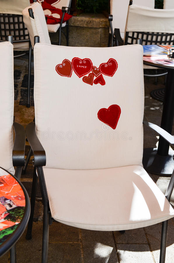 História de amor interior de Caffe fotografia de stock royalty free