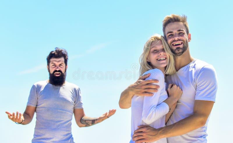 História de amor problemas de relacionamento triângulo amoroso Problema social Traição e divórcio casal apaixonado terceiro volan imagem de stock royalty free