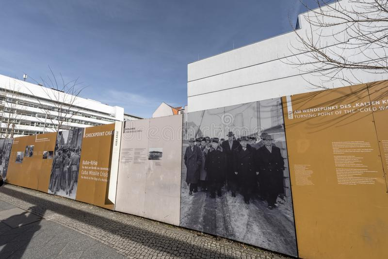 A história de Berlin Wall fotos de stock royalty free