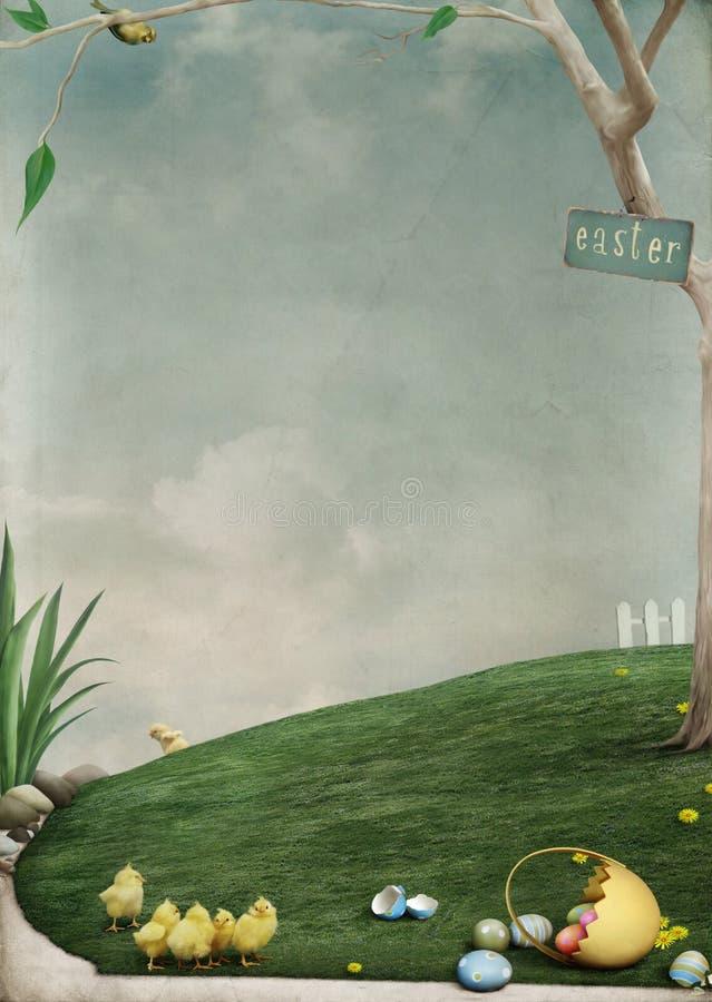 História de Easter ilustração royalty free
