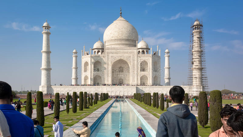 História do amor Taj Maha Agra, Índia fotos de stock royalty free