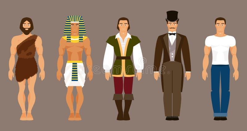 A história do desenvolvimento humano Ilustração do vetor ilustração do vetor