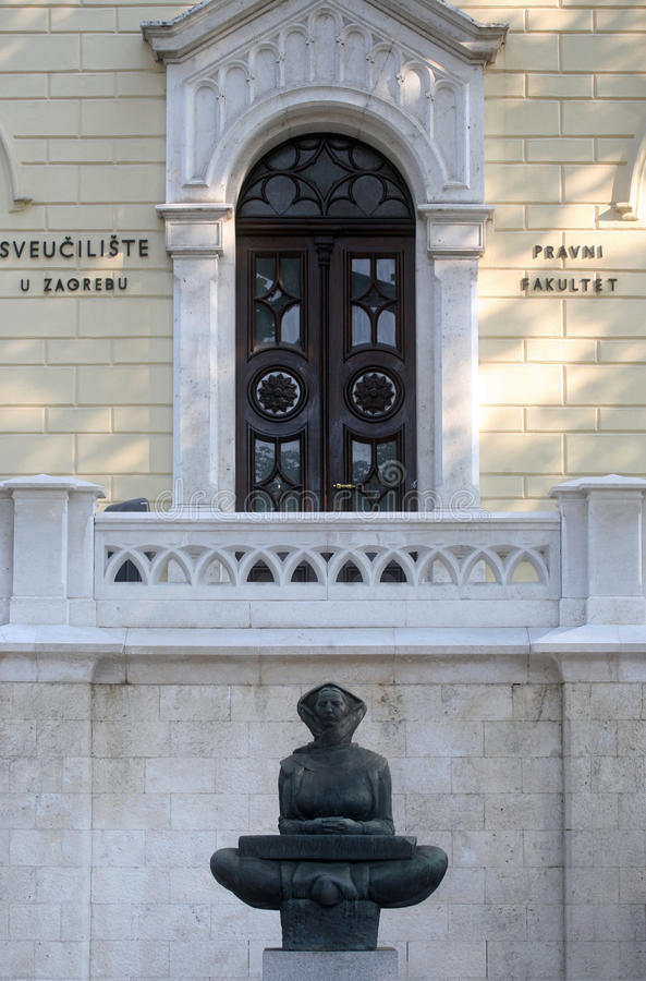 História dos croatas, Zagreb fotos de stock
