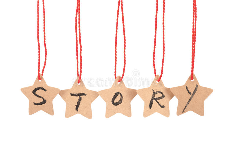 Palavra da história imagens de stock