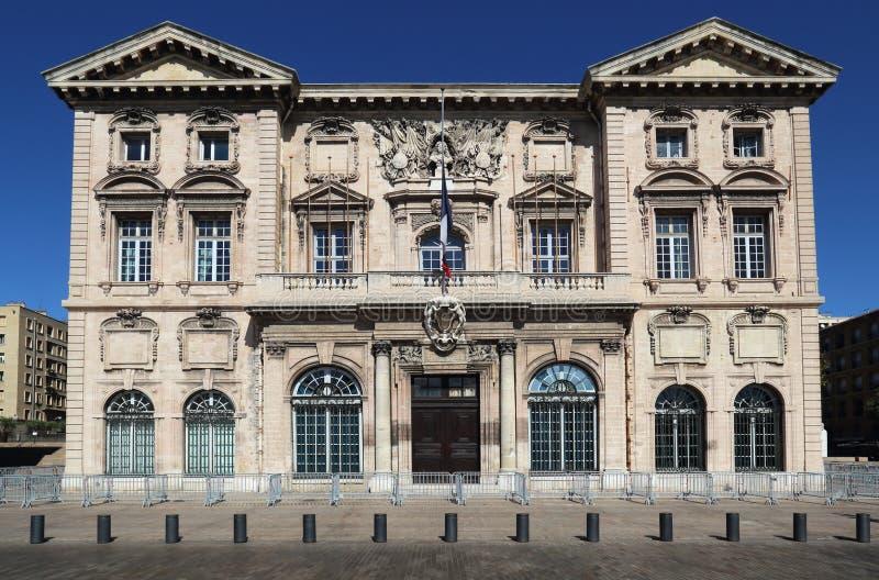 Histórico ayuntamiento de Marsella, Francia imagenes de archivo