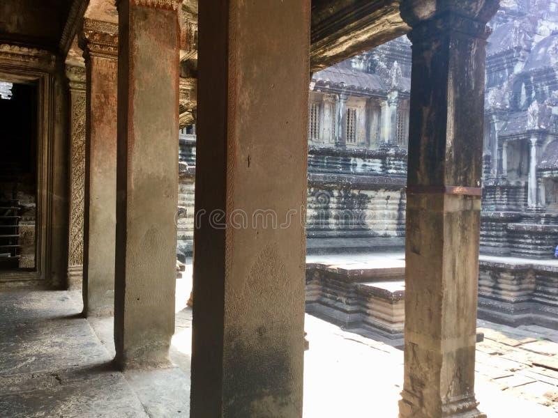 Histórico construído Arquitetura antiga Angkor Wat Templo Hindu Siem Reap cambodia fotografia de stock