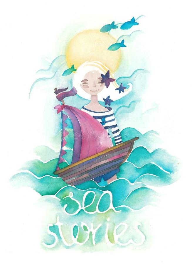 Hist?rias do mar imagens de stock