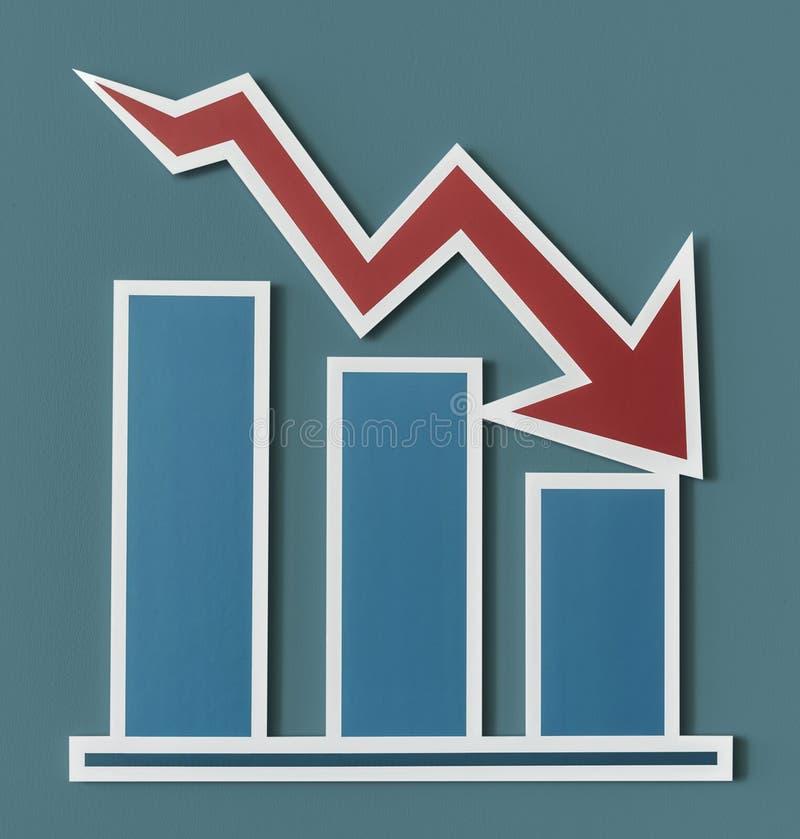 Histogramme en baisse de rapport de gestion illustration de vecteur
