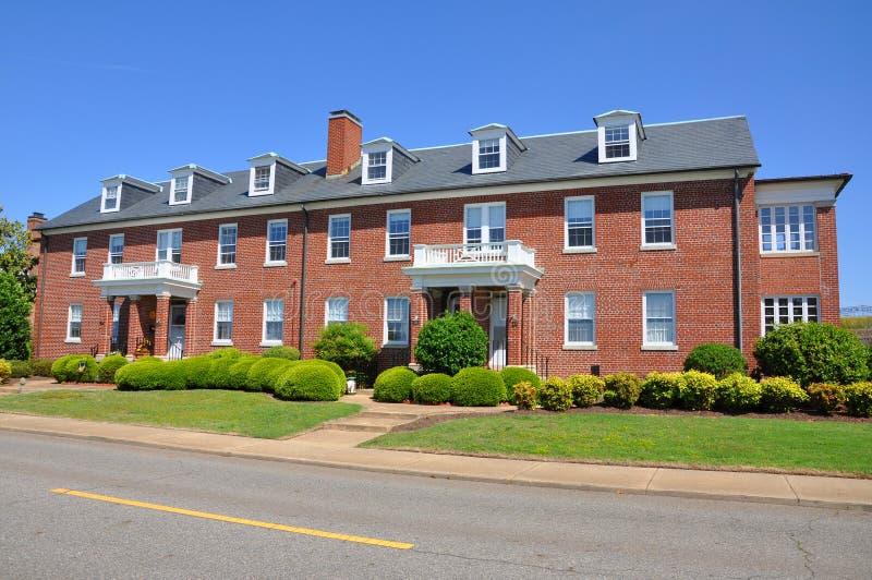 Histoirc lägenhet i Fort Monroe, Hampton, VA, USA arkivfoto