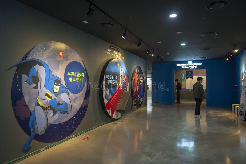 Histoire cor?enne et ?volution cin?matographiques exhibant au mus?e de Busan des films ? Busan, Cor?e du Sud photos stock