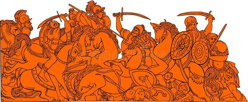 Histoire De Bataille Image stock