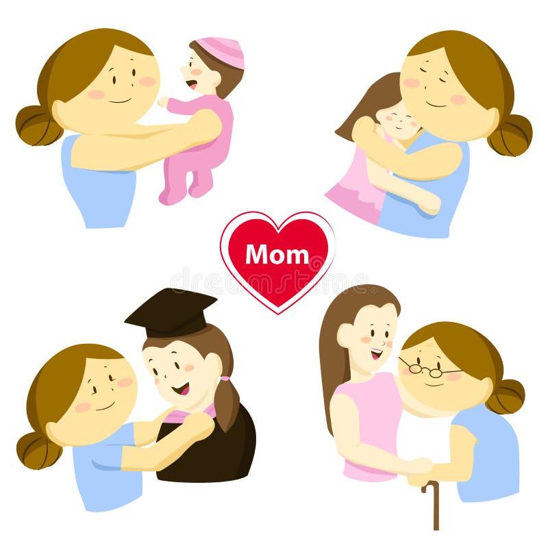 Histoire de l'amour de parent illustration de vecteur