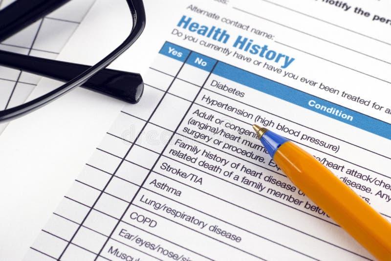 Histoire de santé image stock