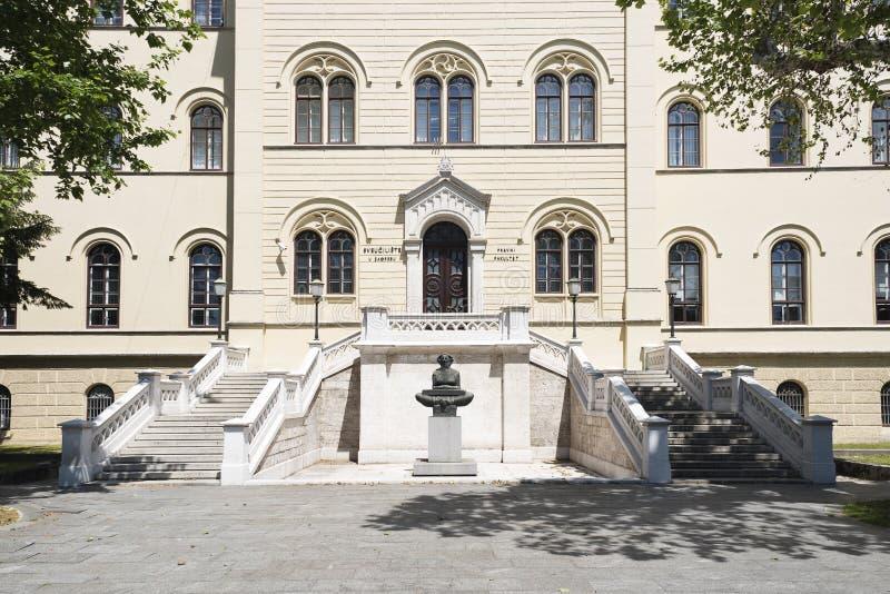 Histoire de sculpture des Croates par Ivan Mestrovic, Zagreb, Croatie photo stock
