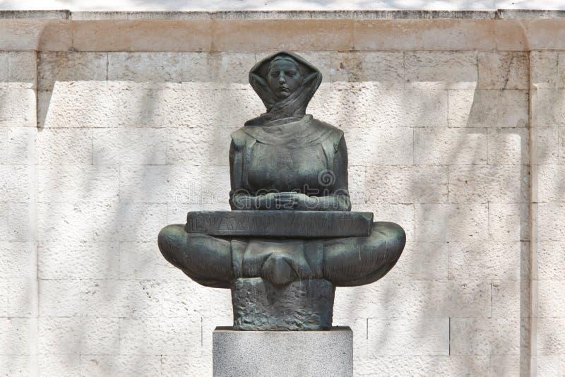 Histoire de sculpture en Croates photographie stock libre de droits