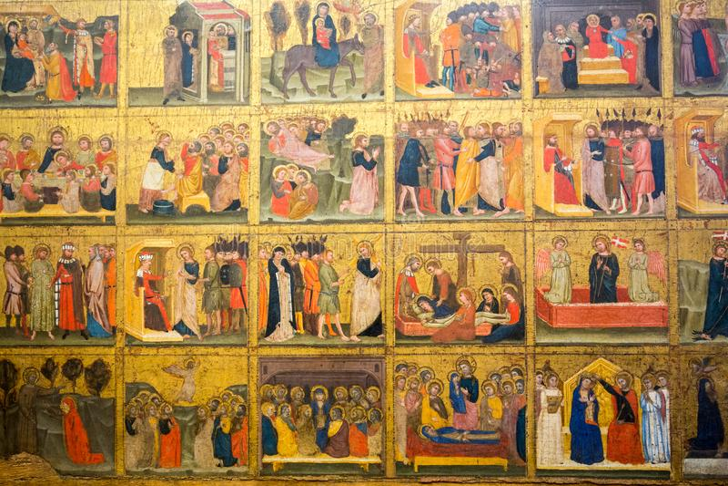 Histoire de trente bibles dans le musée de Castelvecchio Vérone, photo libre de droits