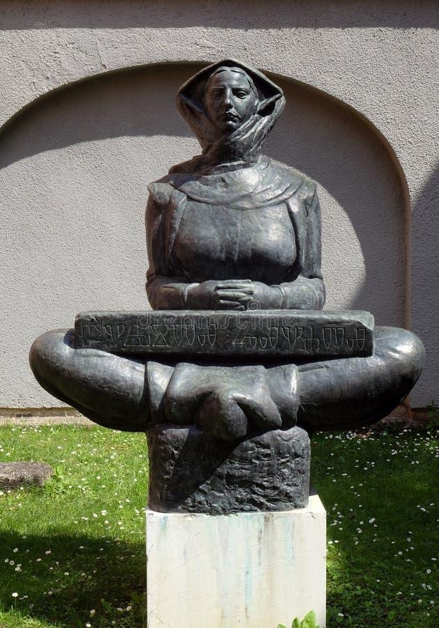 Histoire des Croates, sculpture par Ivan Mestrovic à Zagreb image libre de droits