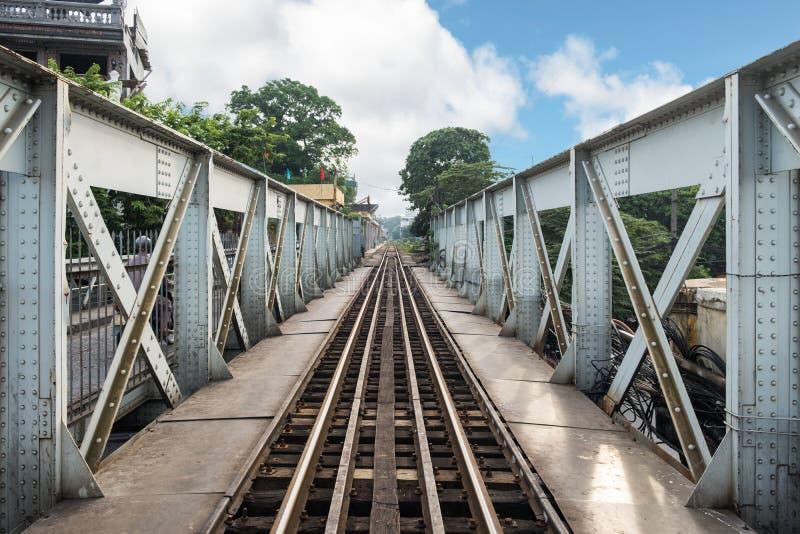 Histoire ferroviaire de train antique d'architecture de long Bian photographie stock libre de droits