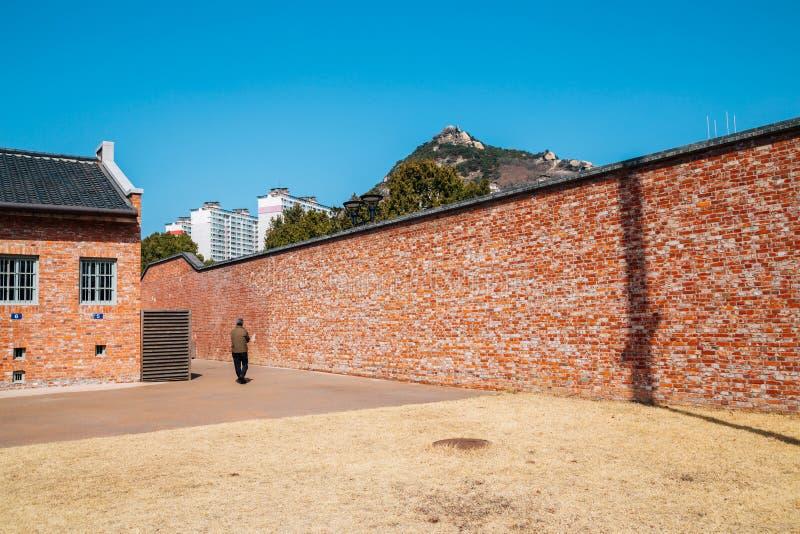 Histoire Hall de prison de Seodaemun à Séoul, Corée photos libres de droits