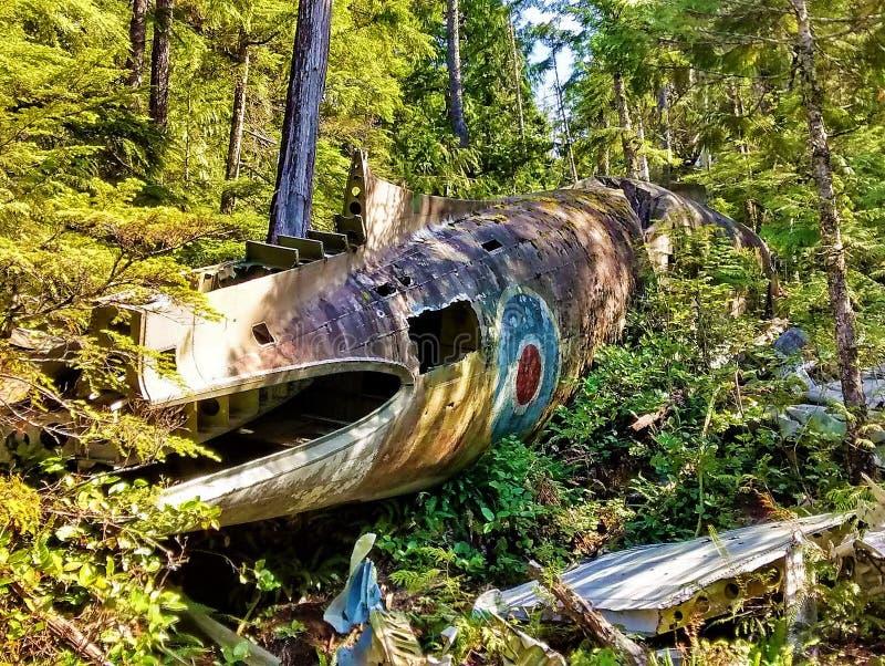 Histoire perdue - avion tombé image stock