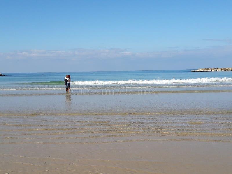 Histoires d'amour dans la plage photos stock