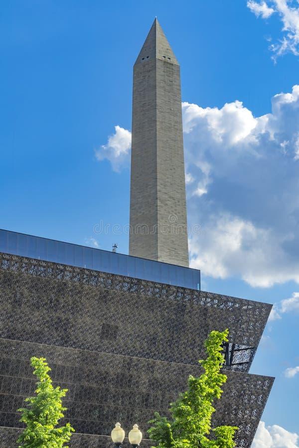 Historia afroamericana Washington Monument Washington DC del museo foto de archivo libre de regalías